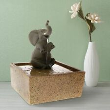 Tabletop Decoration Sculpture Sitting Elephant Water Fountain Resin Material New
