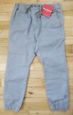 NWT HANNA ANDERSSON  STRETCH CANVAS JOGGERS GRAY PANTS 130 8 $46 NEW!