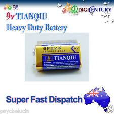 Genuine TIANQIU 6F22X 9v Heavy Duty Battery Brand New 9Volts
