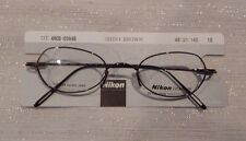 Nikon DT 4908 Shiny Brown 48/21 Unisex Titanium Eyeglass Frame New