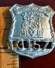 Obsolete, City of New York TRANSIT POLICE mini Vintage Badge / Pin Silvertone