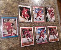 (7) Theo Fleury 1989-90 O-Pee-Chee 1990-91 Score Topps Rookie card lot RC Flames