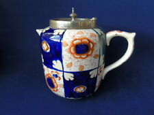 Very Rare c 1915 + William Wood & Sons Gaudy Welsh Chocolate Pot / Hot Water Pot