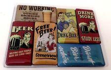 Beer Bier Kühlschrankmagnet Fridge Refrigerator Magnet 6er Set