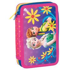 Disney Frozen llenos de doble nivel Estuche Papelería Escolar Chicas Anna Elsa