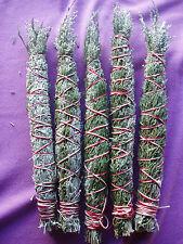 "5 Taos NM mountain sage herb smudge stick bundles  6""... all  w/cedar-juniper"