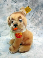 Collectible Vintage Steiff Mopsy Mohair Dog 4010/12 from 1970's
