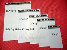 100 Poly Bag Mailer Starter Set 5 Size Variety Pack Shipping Envelope Bags