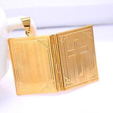 Photo Frame Cross Pendant Locket Picture Charm Jewelry For Women/Men
