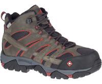 Merrell Men's J11515 Moab Vertex Mid Waterproof Composite Toe Safety Work Boots