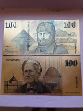 GREY GHOST 24KT GOLD LIMITED EDITION COLOURED AUSTRALIAN PAPER $100 BANK NOTE