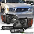 For Smoked 2001-2004 Toyota Tacoma Headlightscorner Lampsbumper Lights 01-04