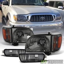 For Smoked 2001 2004 Toyota Tacoma Headlights Corner Lamps Per Lights 01 04 Fits 2002