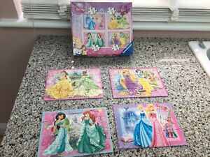 Disney Princess Jigsaw Puzzle -  4 Puzzles in a Box 073184 3+
