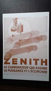 CPM Advertising AUTOMOTIVE To Debut of / The Century Zenith Carburettor Carb