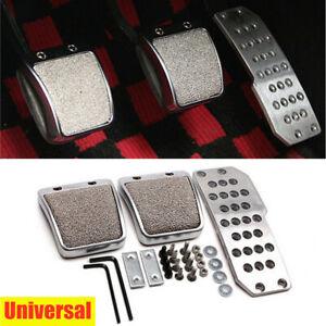 Universal Car Foot Pedals Pad Clutch Brake Non-Slip Footrest Cover CNC Aluminum