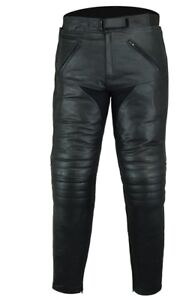 BUSA Bikers Gear Men CE Armour Tour Leather Motorcycle Jean Trousers Comfort Fit