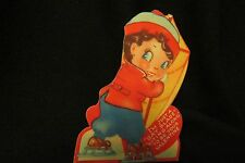 """Vintage Ice Skating """"Gay Blade"""" Valentine Card c. 1940s"""