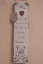 Wall Plaque Niece With Keyring It's Not Where You Are In Life Its Sign F1388I