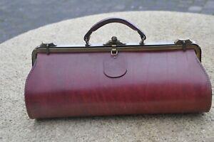 Vintage sac à main  style médecin cuir bordeaux