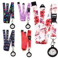 Neck strap Lanyard holder with strong clip & SpiriuS Nurse BLACK Silicone Watch