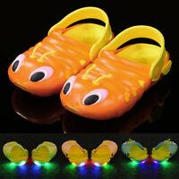 Summer Toddler Baby Boys Girls Cartoon Sandals Slippers Led Light Luminous Shoes