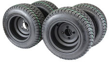 "Golf Cart Tires & Wheels 10""-205/50-10 with 10X7 Matte Black (Assembly of 4)"