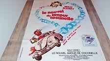 LE NOUVELLE AMOUR DE COCCINELLE  !  affiche cinema animation cars 1974 herbie