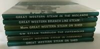 6 x Great Western Books Steam On Shed Cotswold Midlands Cornwall Branch Lines