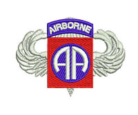 US Army 82nd Airborne Division with Jump Wings Embroidered Polo Shirt
