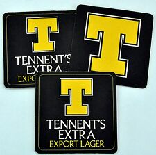 """""""T"""" Tennent's Extra Export Lager Three Beer Pads. Excellent condition. (BI#BX87)"""