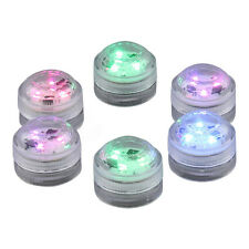 Set of 6 Submersible Waterproof Multi-Colour Tea Lights – LED Battery Party