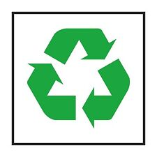 1x recycle warning sticker for work shop door step box #01