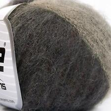 300 mts  x 5 BALLS, ALPACA Deep Brown & Grey Shades,  KNITTING WOOL use 3 mm N