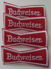 Collectible Patch Budweiser Beer Bow Tie Embroidered Sew-On Patch Set of 4