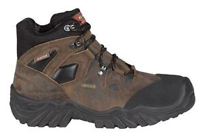 Cofra New Jackson Gore Tex Leather Safety Mens Wide Safty Work Boots Brown