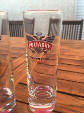 lot de 6 verres à vodka Poliakov tubo 22cl dans leur carton d'origine