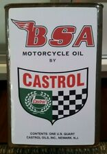 BSA MOTORCYCLE OIL CAN LABEL Vinyl Decal INDIAN ARIEL CROCKER POPE Petrol Tin