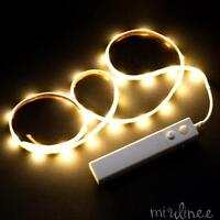 Battery Operated Motion Sensor LED Strip Light Under Bed Wardrobe Cabinet NW