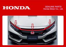 GENUINE HONDA FRONT GRILLE GARNISH RED CIVIC TYPE R FK8 2017+ JDM MODULO ACCESS