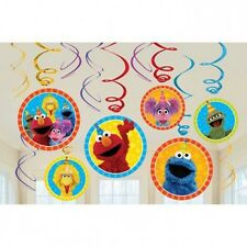 Sesame Street Elmo Party Supplies Hanging Swirls Decorations Cookie Monster Abby