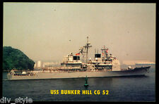 USS Bunker Hill CG-52 postcard  US Navy Ship guided missile cruiser