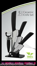 CERAMIC KNIVES  5 PIECE SET - THE ULTIMATE KITCHEN TOOL - CUT QUICKER & LONGER!