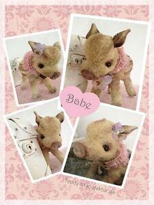Mohair/Bear/Piglet Pattern , 6,5 x 9 inch