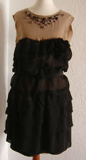 Lanvin for H&M Kleid Dress Seide Schwarz Nude  Größe 42 UK 16 US 12 *NEU*