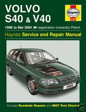 Haynes Manual Volvo S40 V40 Series 1996-2004 NEW (3569)