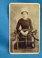 Victorian CDV Photo Carte De Visite Attractive Young Lady Skillman London