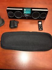 Logitech Pure-Fi Anywhere 2  Black Speaker Dock with Soft Case for iPod iPhone
