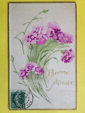 cpa en Relief BONNE ANNÉE 1910 à Auguste CHAUVIN de La CHAPELLE GAUGAIN