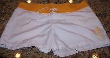 LULU Board Shorts WHITE/YELLOW/BLUE/GREEN/ORANGE Junior's 13 ~ Pre-Owned
